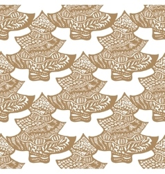 Cookie in the form of a christmas tree pattern vector