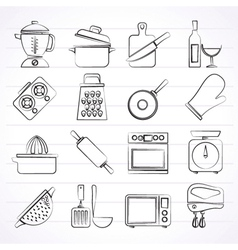 Cooking tools icons vector
