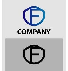 Corporate logo f letter company design temp vector