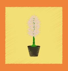 Flat shading style plant hyacinthus vector