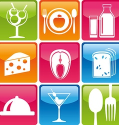 Food icons color vector