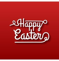 Happy Easter Typographical Background on red vector image vector image