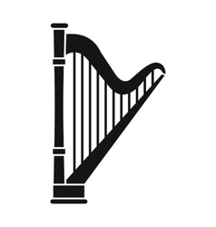 Harp icon in simple style vector