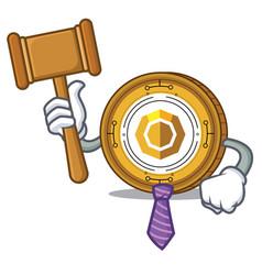 Judge komodo coin mascot cartoon vector