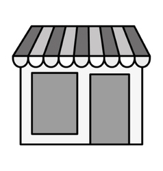 Local shop building vector