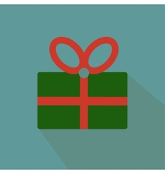 Nice and funny present on the blue background vector image vector image