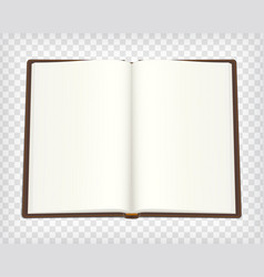 notebook blank mockup vector image