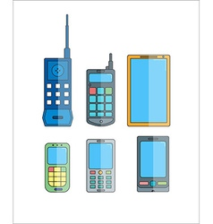 Phone evolution icons Communication telephone vector image vector image