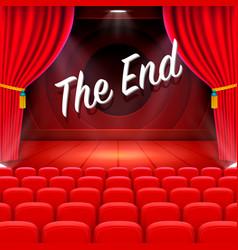scene cinema the end background vector image