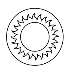 sun summer isolated icon vector image