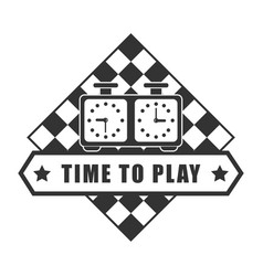 Time to play chess logotype isolated on white vector