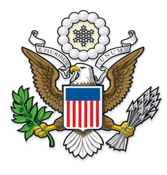US Great Seal Bald Eagle vector image