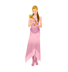 woman with award vector image vector image