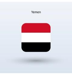 Yemen flag icon vector image