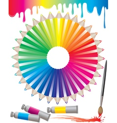 Spectrum of colored pencils vector