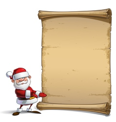 Happy santa scroll showing vector