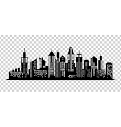 Cityscape black icon on transparent background vector