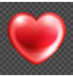 Bright and Glossy Heart vector image