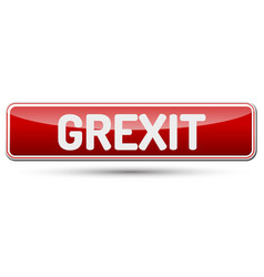 Grexit - abstract beautiful button with text vector