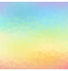 Geometric abstract colorful low poly background vector image