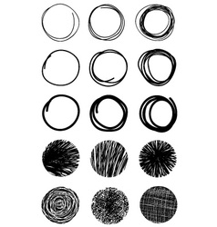 Hand drawn scribble circles design elements eps 10 vector