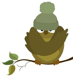 Sparrow cold autumn vector