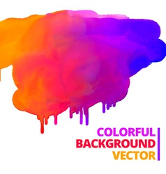 Flow of paint colors ink splash design vector