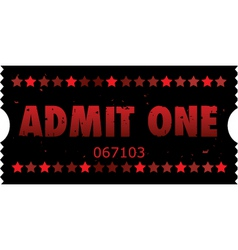 grunge movie ticket vector image