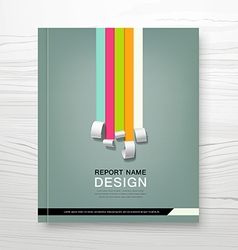 Cover annual report colorful paper roll concept vector