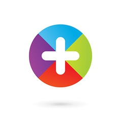 Abstract logo icon design template with cross and vector