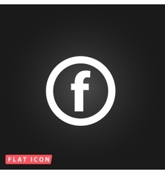 Basic font for letter f vector
