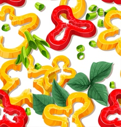 Beautiful seamless background from slices pepper vector image vector image