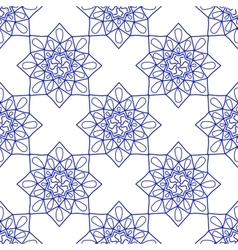 Blue arabic vintage ornament blue mandala vector