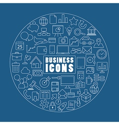 Business icon on blue background vector