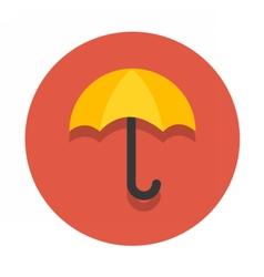 circle flat icon umbrella vector image vector image