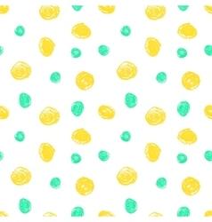 Cute seamless grunge childish pattern vector image