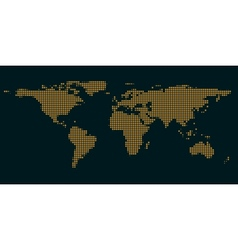 dark blue maps of the world with light of the vector image