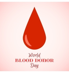Drop of Red Blood Icon vector image vector image