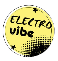 electro vibe stamp vector image vector image