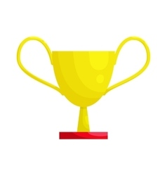 Gold winner cup icon cartoon style vector image vector image