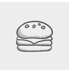 Hamburger sketch icon vector image
