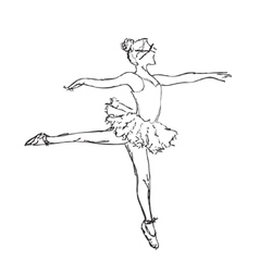 Hand drawn Ballerina dance vector image