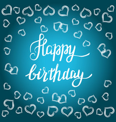 happy birthday gift card vector image vector image