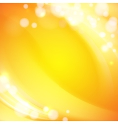 Orange waves background vector image vector image