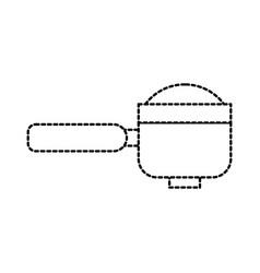 portafilter espresso coffee machine accessory vector image