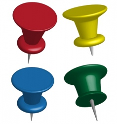 pushpins vector image