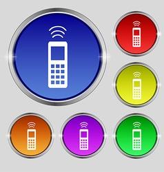 remote control icon sign Round symbol on bright vector image
