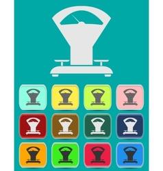 Scales balance - Simple icon vector image vector image