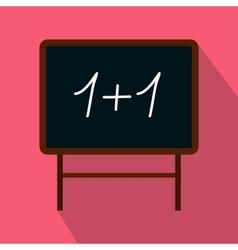 School blackboard icon flat style vector image vector image