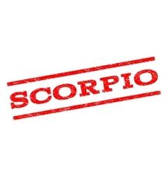 Scorpio watermark stamp vector